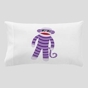 Purple Sock Monkey Pillow Case