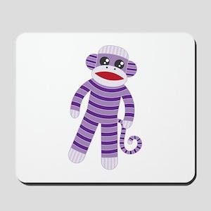 Purple Sock Monkey Mousepad