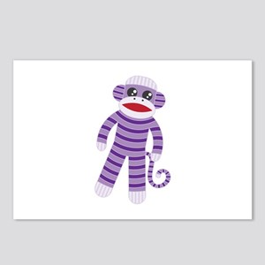 Purple Sock Monkey Postcards (Package of 8)