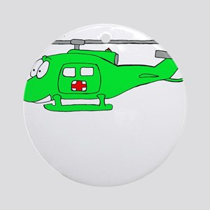 UH-1 Green Ornament (Round)