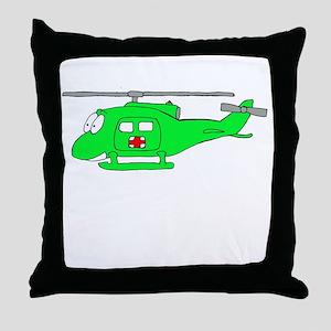 UH-1 Green Throw Pillow