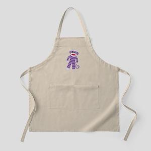 Purple Sock Monkey Light Apron