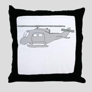 UH-1 Gray Throw Pillow