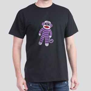 Purple Sock Monkey Dark T-Shirt