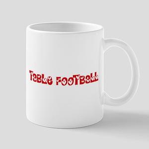 Table Football Heart Design Mugs