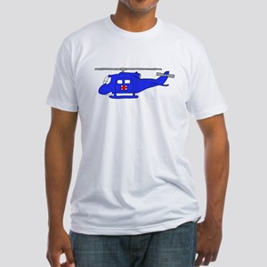 UH-1 Blue Fitted T-Shirt