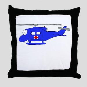 UH-1 Blue Throw Pillow