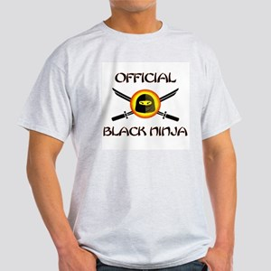 Official Black Ninja Ash Grey T-Shirt