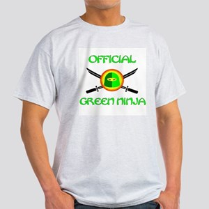 Official Green Ninja Ash Grey T-Shirt