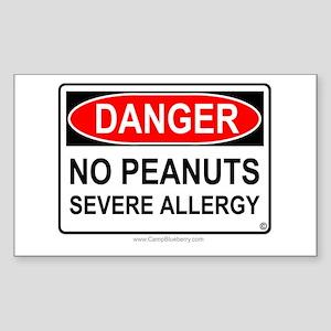 No Peanuts-Severe Allergy Rectangle Sticker