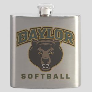 Baylor Bears Softball Flask