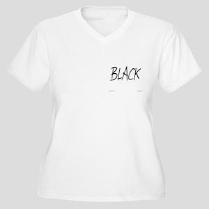Black Women's Plus Size V-Neck T-Shirt