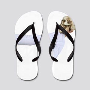 WhiteGothicSkull050110 Flip Flops