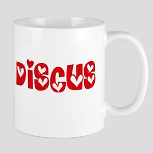 The Discus Heart Design Mugs