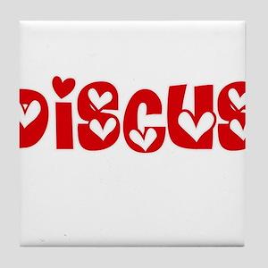 The Discus Heart Design Tile Coaster