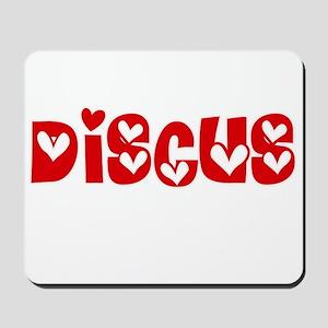 The Discus Heart Design Mousepad
