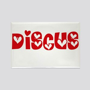 The Discus Heart Design Magnets