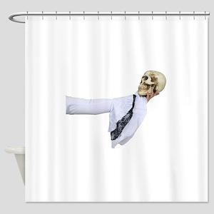 WhiteGothicSkull050110 Shower Curtain