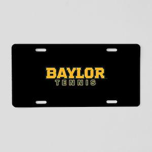 Baylor Tennis Logo Aluminum License Plate