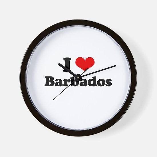 I love Barbados Wall Clock
