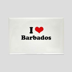 I love Barbados Rectangle Magnet
