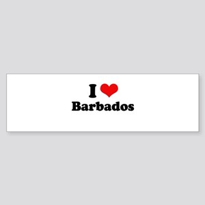 I love Barbados Bumper Sticker