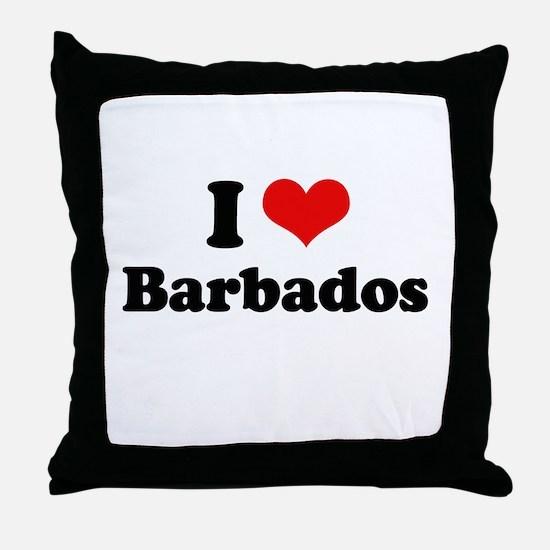 I love Barbados Throw Pillow