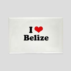 I love Belize Rectangle Magnet