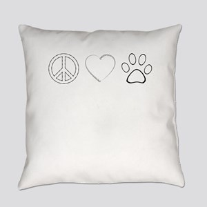 Peace Love Paws (Clear) Everyday Pillow