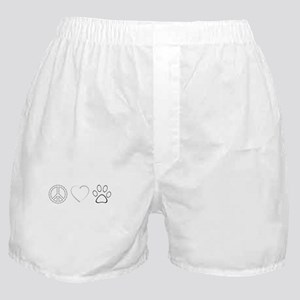 Peace Love Paws (Clear) Boxer Shorts