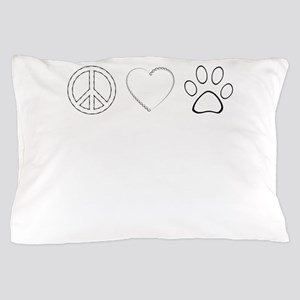 Peace Love Paws (Clear) Pillow Case
