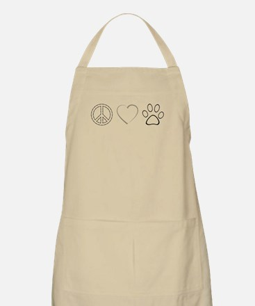 Peace Love Paws (Clear) Light Apron