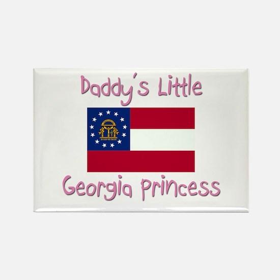 Daddy's little Georgia Princess Rectangle Magnet
