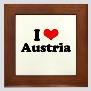 I love Austria Framed Tile