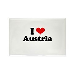 I love Austria Rectangle Magnet (100 pack)
