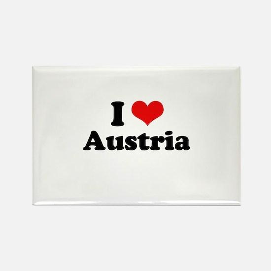 I love Austria Rectangle Magnet