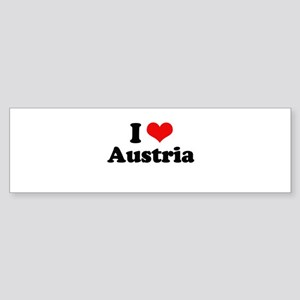 I love Austria Bumper Sticker