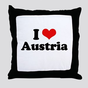 I love Austria Throw Pillow
