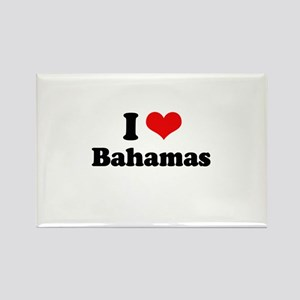 I love Bahamas Rectangle Magnet