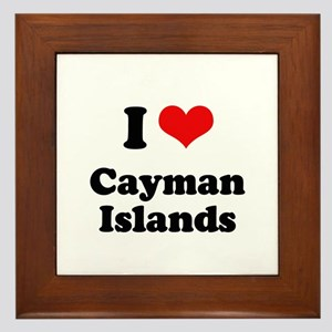 I love Cayman Islands Framed Tile