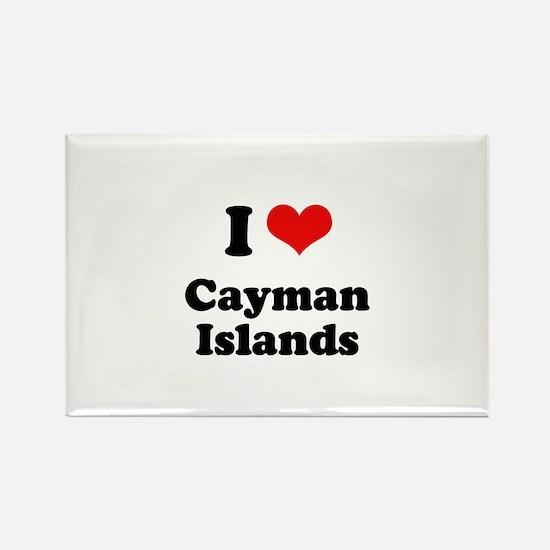 I love Cayman Islands Rectangle Magnet