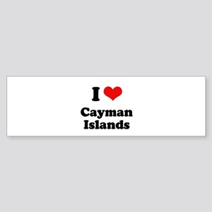 I love Cayman Islands Bumper Sticker