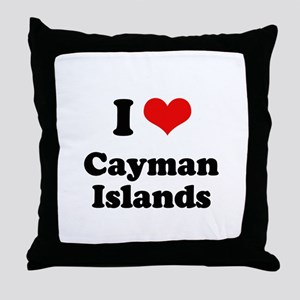 I love Cayman Islands Throw Pillow