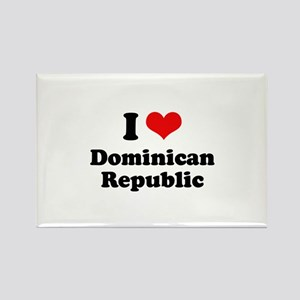 I love Dominican Republic Rectangle Magnet