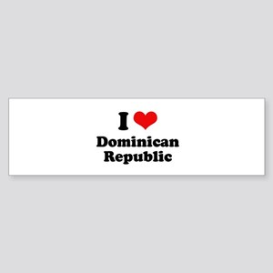 I love Dominican Republic Bumper Sticker