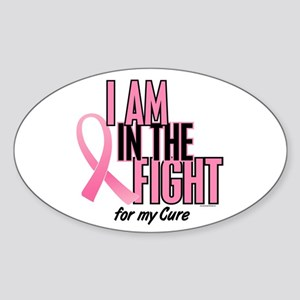 I AM IN THE FIGHT (My Cure) Oval Sticker