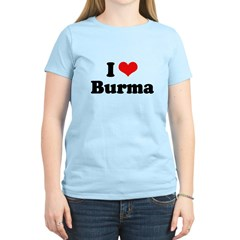 I love Burma Women's Light T-Shirt