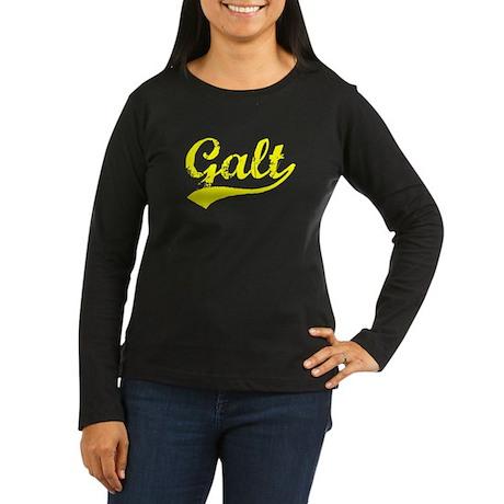 Vintage Galt (Gold) Women's Long Sleeve Dark T-Shi