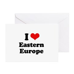 I love Eastern Europe Greeting Cards (Pk of 20)