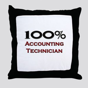 100 Percent Accounting Technician Throw Pillow
